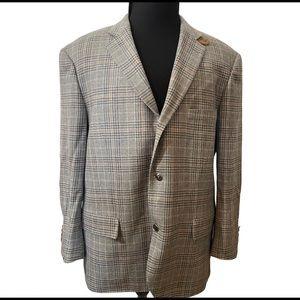 Canali Italian Grey Tweed Professor Blazer 48R XC